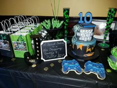 9th Birthday Parties 14th School Boy Video Game Party