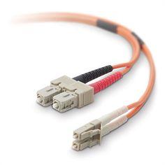 LC//SC 62.5//125 Duplex Multi Mode Optic Fiber Optics Patch Cable Cord 2m 6ft