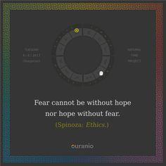 Ouranio.com | Daily quote: Spinoza, «Fear...»