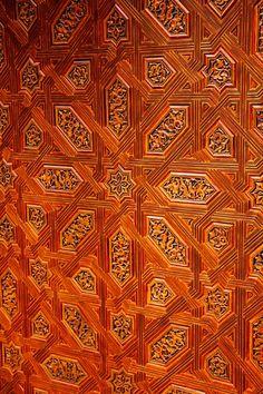Carved Door, Alhambra, Spain by Khakbaz Khan