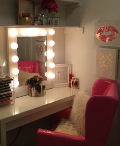 My makeup vanity area.