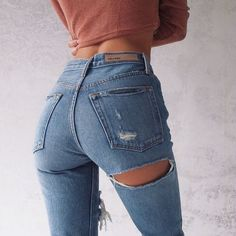 jeans rip bum - Google Search