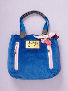 Juicy Couture Flower Velour Tote