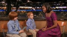 "Rainer and Atticus Meet Michelle Obama at the DNC!, via YouTube. ""Four score and seven years ago... People had sideburns!"" Ahahahaha. I just saw this on Ellen. It was adorable!"