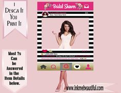 PRINTABLE Photo frame Prop Photo Booth, Wedding, Birthday, Pop Fizz Clink, Baby Shower, Bridal Shower, Photobooth Prop