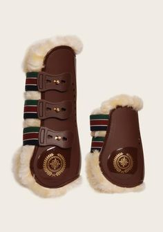 Signature Brown Fur Tendon Boots