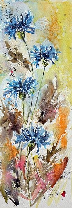 Watercolor - love the colors and the movement in this!