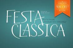 Festa Classica Family - Display Handwritten Type, Open Type, Script, Fonts, Lettering, How To Make, Designer Fonts, Script Typeface, Calligraphy