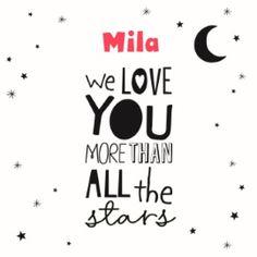 We love you more than all the stars!  #Hallmark #HallmarkNL #girl #geboorte #meisje #geboortekaartje