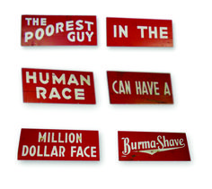 burma shave road signs - Google Search