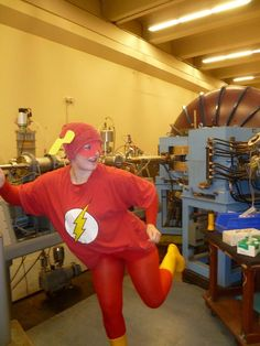 GISHWHES 2013 | Nymeria | 14. IMAGE: You, dressed as The Flash in the LHC (Large Hadron Collider) tunnel. If this is too difficult, you will get full credit for dressing as The Flash in any actual, operational particle accelerator. (216 points)