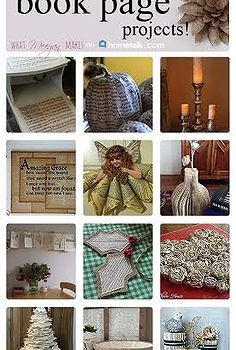 Calling all book lovers! These 15 book page projects will have you swooning!