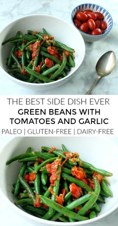Green Beans with Garlic and Tomatoes - a Healthy Side Dish