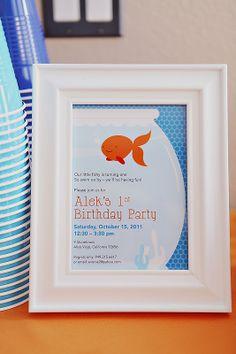 Goldfish 1st Birthday Party     Kara's Party IdeasKara's Party Ideas