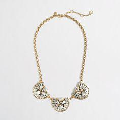J.Crew Factory - Factory crystal dome trio necklace