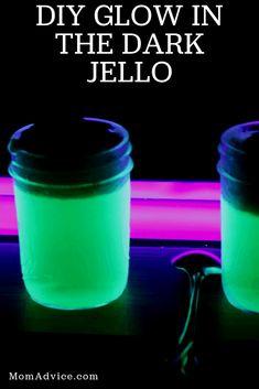 Glow in the Dark Jello from MomAdvice.com Glow Party, Spa Party, Teen Party Games, Teen Parties, Fun Halloween Treats, Teen Birthday, Birthday Parties, Craft Activities For Kids, Craft Tutorials