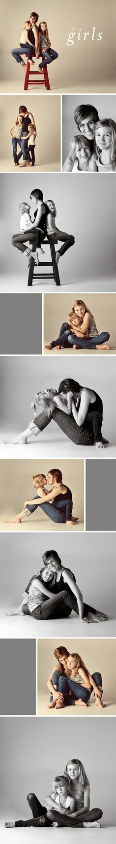 studio session.  Love the mother daughters portraits