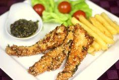 Soczyste Paluszki z Kurczaka w Sezamie Chicken Wings, Chili, Meat, Wok, Chile, Chilis, Woks