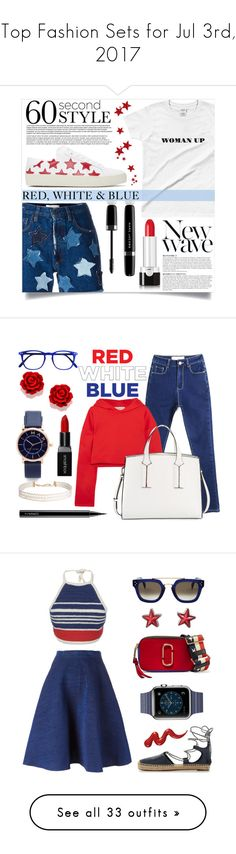 """Top Fashion Sets for Jul 3rd, 2017"" by polyvore ❤ liked on Polyvore featuring Faith Connexion, Marc Jacobs, Yves Saint Laurent, Anja, Golden Goose, French Connection, Humble Chic, Smashbox, MAC Cosmetics and Vika Gazinskaya"