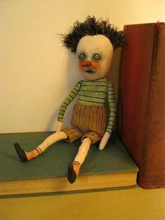 Odd boy art doll , etsy , by sandy mastroni