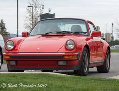 Porsche in the PSU Arboretum parking lot