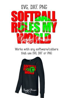Softball Knockout SVG Cutting File by SparkalDigitalDesign on Etsy