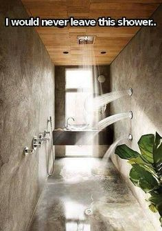 Wet shower cell....with side power sprinklers for massaging the body