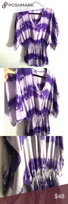 ✨Parker 100% Silk Top✨ NWOT! Very light, high quality and stylish top! Great for vacations on the beach! Or summer day/night gatherings or parties! Dress it up/down. Very delicate and nice 100% silk. Very very excellent condition! Never been worn or washed! Got it from Neiman Marcus. Parker Tops