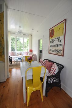 A glimpse of the latest magic little cottage.    Welcome to Cottage on the Green      Tybee Island Georgia           A little red..a l...