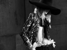 Julia Nobis by Hedi Slimane for Saint Laurent Spring 2013