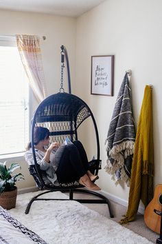 If you haven't sat in one of these, you're missing out on life. Swingasan chair and stand sold at Pier 1 Imports!