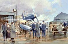 "Supermarine S6b Schneider trophy Aviation Aircraft Painting Art Print 14"" Print | eBay"