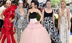 Flying the flag! British stars lead the glamour at the Met Gala 2017 Lily Collins, Prom Dresses, Formal Dresses, Rita Ora, Cara Delevingne, Bridal Jewelry, Glamour, Actresses, Stars