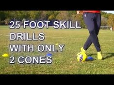 Your Speed During Soccer Training 25 Fast Footwork Soccer/Football foot skill drills with 2 cones Soccer Training Drills, Soccer Drills For Kids, Soccer Workouts, Football Drills, Best Football Players, Soccer Practice, Soccer Skills, Soccer Coaching, Youth Soccer
