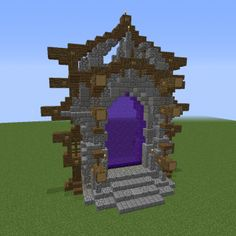 Large Nether Portal Design - GrabCraft - Your number one source for MineCraft bu. - Explore the best and the special ideas about Cool Minecraft Houses Minecraft Bauwerke, Minecraft Portal, Construction Minecraft, Minecraft Statues, Amazing Minecraft, Minecraft Tutorial, Minecraft Designs, Cool Minecraft Houses, Minecraft Crafts