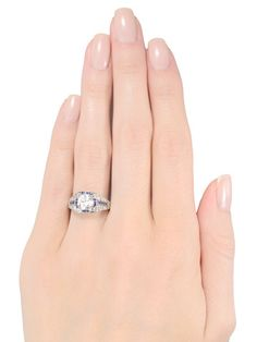 Glamour in a Diamond Sapphire Ring - The Three Graces
