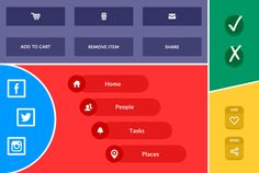 create 5 icons or buttons in 24 hours by jograce