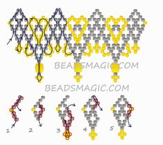 Free pattern for necklace Absolute by poegyongyei.blogspot.com U need: seed beads 11/0 fire polished beads