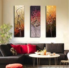 QUADRO SU TELA DIPINTO A MANO MODERNO DESIGN 3 PEZZI SLAJYJLV177 in Arte e Antiquariato, Quadri, Acrilico   eBay