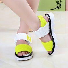 2017 NEW girls summer sandals children's flats shoes girl princess little girl over the children shoes size 27-37 #Affiliate