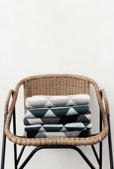 Triangle blankets from Ferm Living