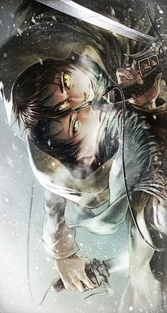Attack on Titan ~~ Snowy battlefield :: Eren x Levi