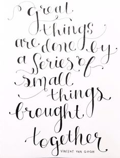 Vincent Van Gogh - hand drawn lettering | Melissa Horrocks