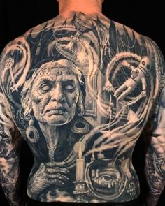 Gas Mask Tattoo, Evil Skull Tattoo, Skull Girl Tattoo, Girl Face Tattoo, Tattoos Skull, Body Tattoos, Sleeve Tattoos, Wicked Tattoos, Creepy Tattoos