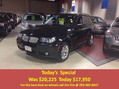 2008 BMW X3, 3.0si, M-Sport Pkg, 4X4 Moon roof, Brown Leather, with only 49k miles! For the best deal on wheels call Jim Zim @ 203-482-8417