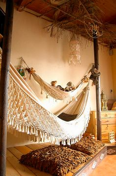 Hammocks indoors? Obviously.