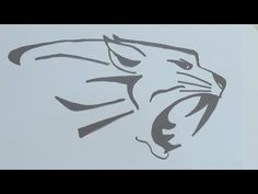 How to draw the tiger head tribal tattoo - YouTube