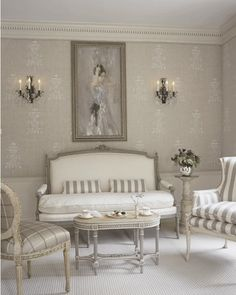 Gustavian Interiors....I could talk about this all day! My favourite. Commonly known today as Scandinavian, French Provintional but now used with more raw neutral colours. A 17-18th century style room styled with chalky whites and greys. This image identifies fresh open planed spaces and inspires me by the silk white furniture creating a sense of lust. The candles upon the wall give the room lots of warmth.