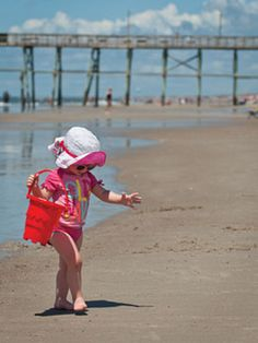 Search the beach for seashells. NC's Brunswick Islands
