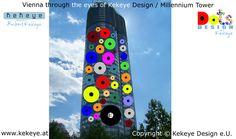 Millennium Tower Wien, Vienna in Dots Design / Photo © Kekeye Design e. Dots Design, Vienna, Tower, Eyes, Blog, Dots, Lathe, Towers, Blogging